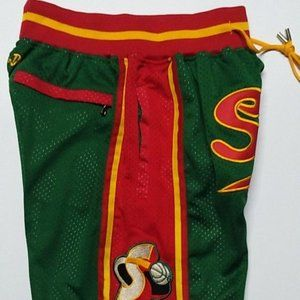 New Just Don Seattle Supersonics Basketball Shorts